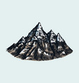 mountain peaks vintage rock old highlands range vector image vector image