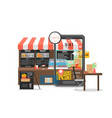 online fast food ordering and delivery vector image