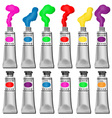 Paint tubes vector image