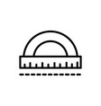 protractor angle measure architecture icon line vector image