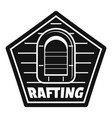 rafting logo simple style vector image vector image