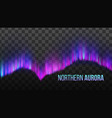 realistic colorful northern aurora light vector image