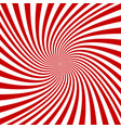 red and white spiral background vector image vector image