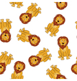 Seamless Funny Cartoon Lion vector image