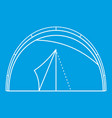 semicircular tent icon outline style vector image vector image