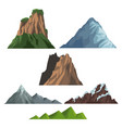 set on nature elements vector image vector image