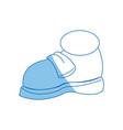 shoe tennis sport graffiti fashion design icon vector image