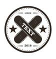 skate park icon skateboard logo vector image vector image