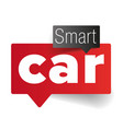 smart car - internet things vector image