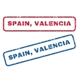 Spain Valencia Rubber Stamps vector image vector image