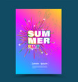 summer party exploded vector image