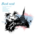 Travel Laos design in grunge style vector image