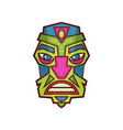 tribal indian or african masks vector image vector image