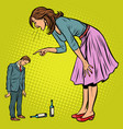 wife scolding drunk husband vector image vector image