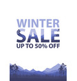 winter sale words on beautiful christmas flat vector image vector image