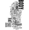 your bmi body mass index may not be accurate if vector image vector image