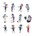 Zombie Fictional Undead Beings Fantastic Character vector image vector image