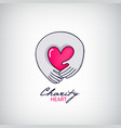 charity support logo vector image