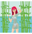 nature girl vector image
