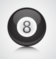 isolated eight ball vector image
