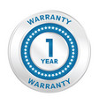 1 year warranty vector image vector image