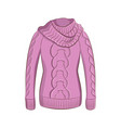 a realistic warm jumper or knitted sweater women vector image vector image