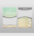 abstract background annual report template modern vector image vector image