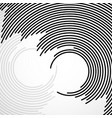 abstract background circles with lines vector image vector image