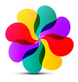 Abstract Colorful Transparent Flower Shape vector image vector image