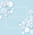abstract papercraft snowflakes christmas vector image vector image