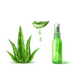 aloe vera realistic cosmetic spray tube ad vector image vector image
