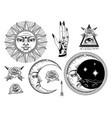 an ancient astronomical sun vector image vector image