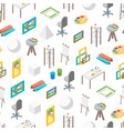 artist workplace seamless pattern background vector image
