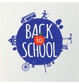 Back to school inscription on the background vector image vector image