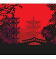 beautiful abstract asian landscape vector image