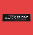 black friday sale 3d banner modern typographic vector image