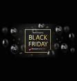 black friday sale banner poster logo vector image