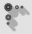 Black gears set vector image