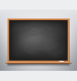 blackboard with chalk vector image vector image