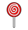 candy sweet isolated icon vector image