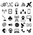 communication technology icon set vector image vector image