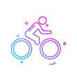 cycle icon design vector image vector image