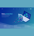 data protection concept network data security vector image vector image