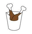 delicious chicken thighs icon image vector image vector image