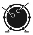 drums icon simple style vector image