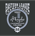 eastern league championship vector image vector image