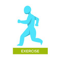 exercise morning jogging isolated human figure vector image
