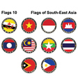 flags south-east asia vector image