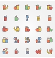 Flat smoothie icons set vector image vector image