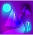 futuristic geometrical mountain scene vector image vector image